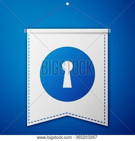 Blue Keyhole Icon Isolated On Blue Background. Key Of Success Solution. Keyhole Express The Concept