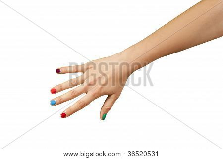 Beautiful Woman Hand With Manicure