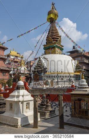 Old Buddhist Temple At Kathmandu On Nepal