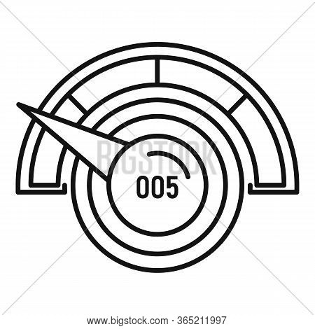 Low Credit Score Icon. Outline Low Credit Score Vector Icon For Web Design Isolated On White Backgro