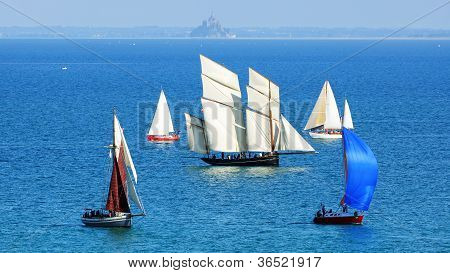 Ships in the Cancale Bay.