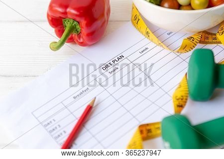 Diet Health Plan. Workout Planing For Stay At Home.  Sport Exercise Equipment Workoutandgym Backgr