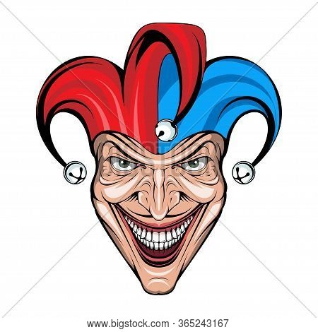 Joker Smile. Posters, Icon, Mascot. Joker Esport Mascot Logo. Jokester Head. Jester Icon. Buffoon Lo