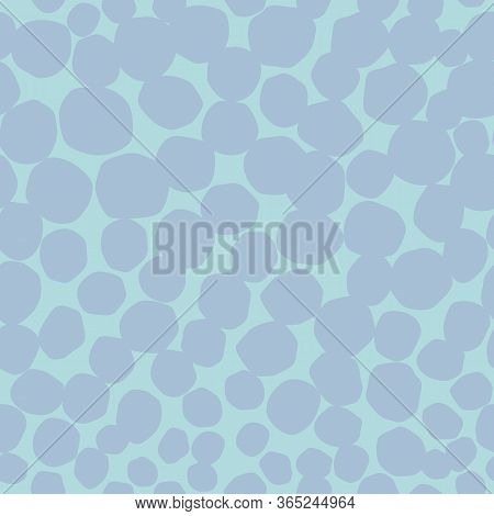 Spotty Circular Dot Vector Repeat Pattern. Circle Spotty Seamless Pattern. Perfect For Kids, Fashion
