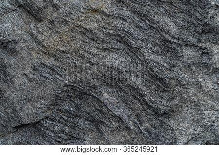 Gold Ore Texture Close-up. Contains Quartz, Feldspar, Chlorite, Garnet, Carbonate, Sulfides And Gold