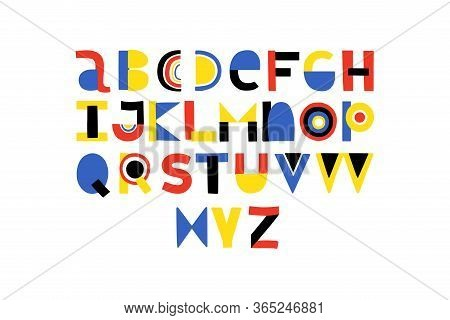 Abstract Stylish Alphabet . Dream Pan Do. Bright Color Abc For Motivate Quotes