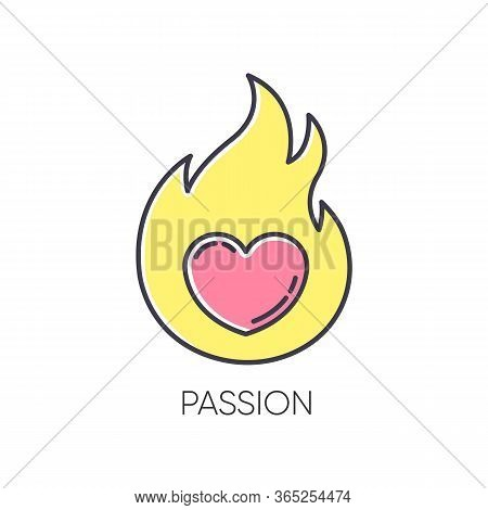Passion Rgb Color Icon. Intense Positive Emotion. Affection And Lust. Sexual Drive. Desire From Libi