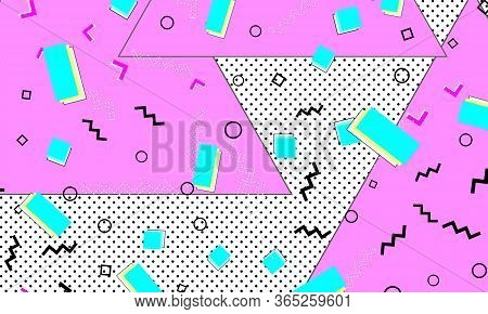 Deep Pink Doodle Template. Ultramarine Liquid Flyer. Spotty Texture. Gradient Art. Pink Creative Wal