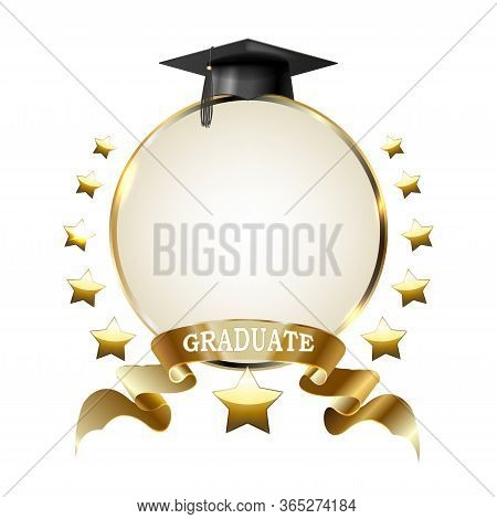 Graduation Party Photo Booth Props. Concept For Selfie. Photobooth Vector Element.