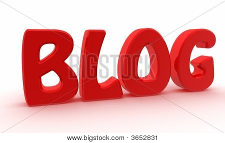 Red Blog Text