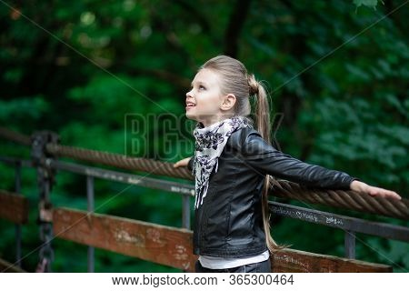 A Fashion Girl Looking Up Daydreaming. Closeup Portrait, Confident, Successful, Beautiful Attractive