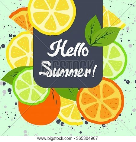 Hello Summer, Summer Time,  Summer Day Background/banners/flyer/design.  Colorful And Fun Banner And