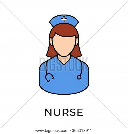 Nurse. Nurse icon. Nurse vector. Nurse icon vector. Nurse illustration template. Medical Nurse icon. Nurses icon set. Nurse logo design. Nursery vector icons. Nurse vector icon flat design for web icons, logo, sign, symbol, app, UI.
