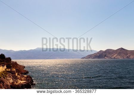 Baska And Its Beach In A Sunny Day