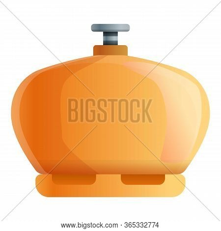 Liquid Gas Cylinder Icon. Cartoon Of Liquid Gas Cylinder Vector Icon For Web Design Isolated On Whit