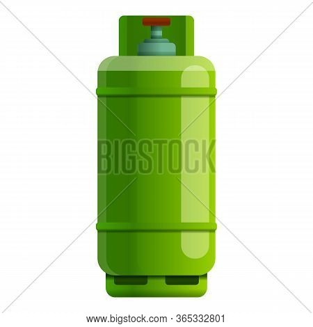 Barrel Gas Cylinder Icon. Cartoon Of Barrel Gas Cylinder Vector Icon For Web Design Isolated On Whit