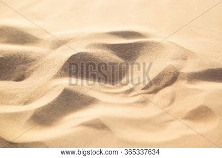 Yellow Sand In The Arab Desert. Yellow Sand In The Arab Desert. Close-up.