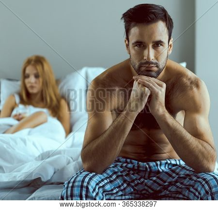 Young Couple Feeling Unhappy Together In Morning