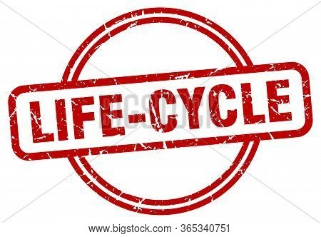 Life-cycle Stamp. Life-cycle Round Vintage Grunge Sign