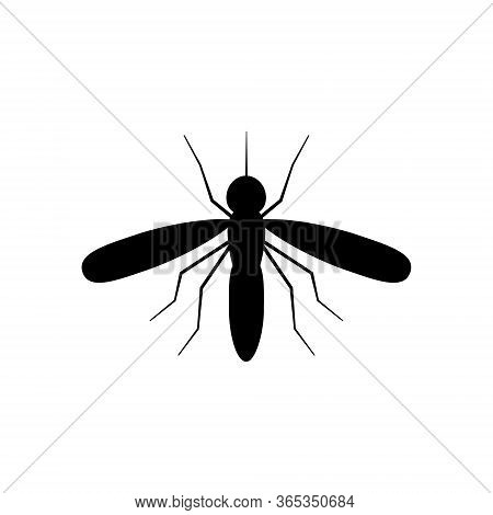 Mosquito Icon Vector Illustration Isolated On White.