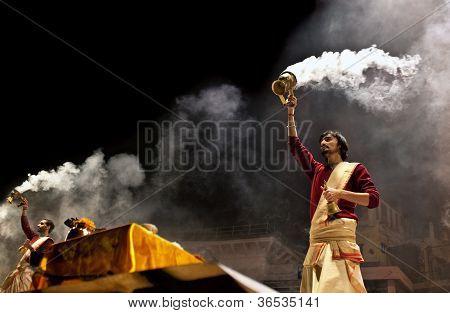 Ganga Aarti Ceremony in Varanasi, India