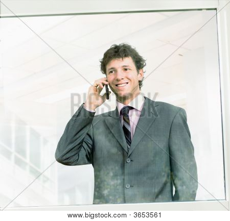 Businessman Calling On Cellphone