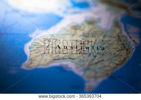 Geographical Map Location Of Western Australia Region In Australia Australasia Continent On Atlas