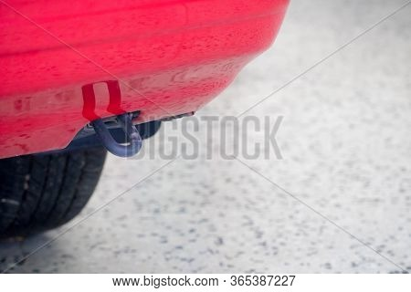 Trailer Hitch Or Towbar On The Car
