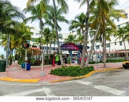 Miami, United States Of America - November 30, 2019: Clevelander South Beach Hotel 3 At Ocean Drive