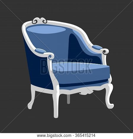 Riverside Baroque Armchair Classic Rococo Furniture Vector Illustration