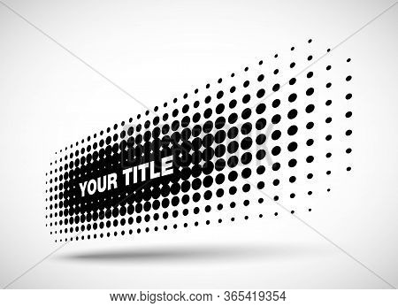 Halftone Horizontal Perspective Frame Abstract Dots Logo Emblem Design Element For Technology, Medic