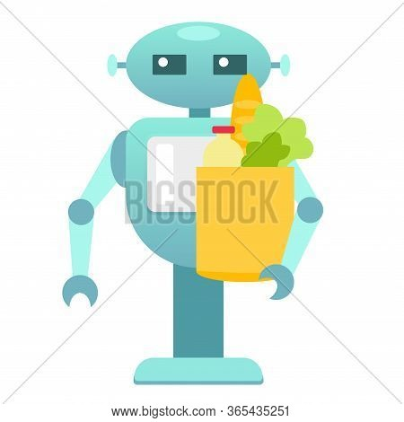 Robo Courier, Goods And Food Delivery Machine, Delivery Robot, Service Robot, Electronic Machine, Pe