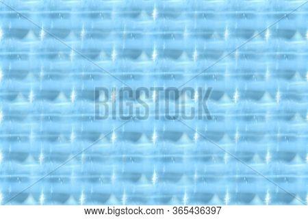 Light Blue Background. Seamless Background. Glare Of Light On The Waves.