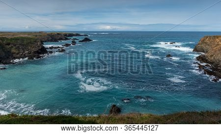 Overview Of The Ocean From Mendocino Headlands State Park, Northern California, Usa, Featuring Predo