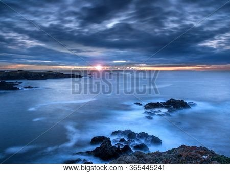 Sunset Time At The Mendocino Headlands State Park, Northern California, Usa, Featuring Predominantly