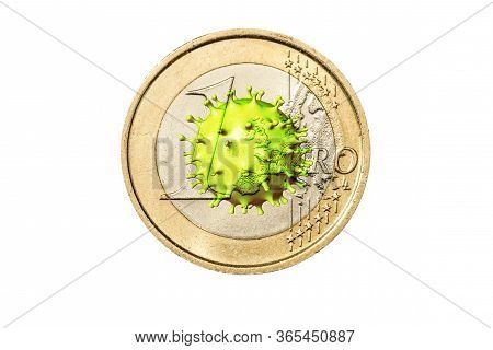 Pandemic And Viral Epidemic Brings Down European Currency And Stock Exchange In Europe. Covid-19 Out