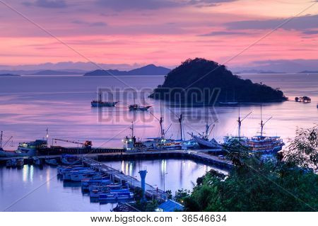 port of Labuan Bajo, Flores Island, Indonesia poster