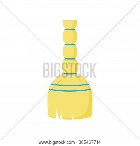 Broom Illustration. Sweeping, Floor, Besom. Household Concept. Can Be Used For Topics Like Cleanup,