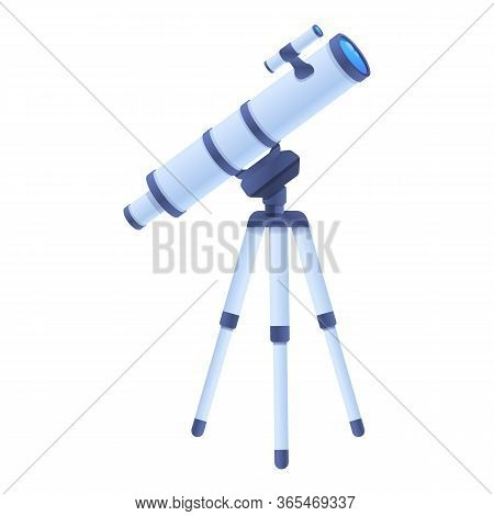 Home Telescope Icon. Cartoon Of Home Telescope Vector Icon For Web Design Isolated On White Backgrou