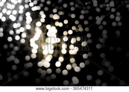 Abstract Background, Bokeh Of Lights On Black Background