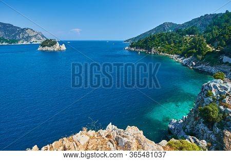 Icmeler Beach View In Marmaris Town, Turkey
