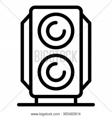 Subwoofer Icon. Outline Subwoofer Vector Icon For Web Design Isolated On White Background