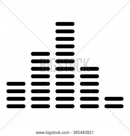 Equalizer Columns Icon. Outline Equalizer Columns Vector Icon For Web Design Isolated On White Backg