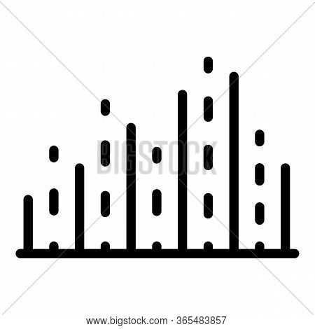 Dots And Lines Columns Icon. Outline Dots And Lines Columns Vector Icon For Web Design Isolated On W