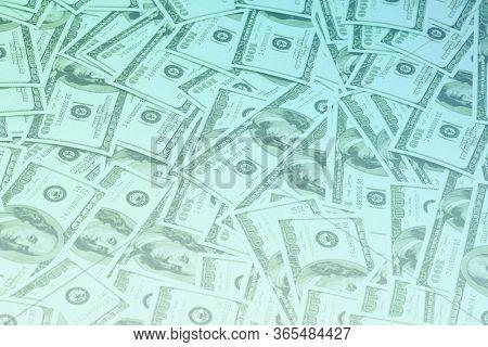 Money background, hundred dollar bills.