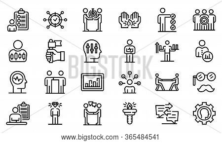 Personal Traits Icons Set. Outline Set Of Personal Traits Vector Icons For Web Design Isolated On Wh