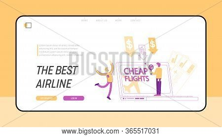 Cheap Flight, Economy Travel Landing Page Template. Tourism, Special Offer, Low Cost Airline Discoun