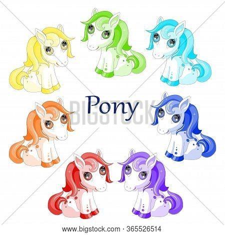 Pony Horse Animal Pet  Children Illustration Vector