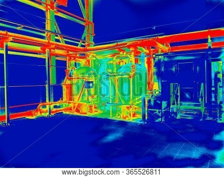 Industrial Thermography. Engineering Automated Systems. Hot Water