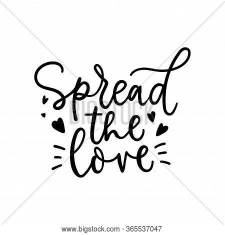 Spread The Love Lettering Card With Hearts